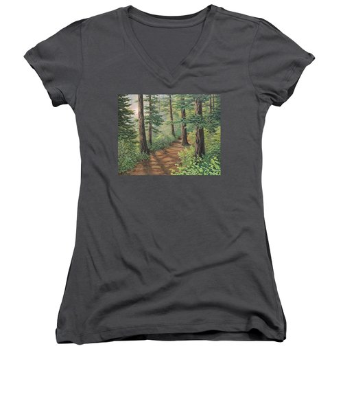 Trail Of Green Women's V-Neck (Athletic Fit)