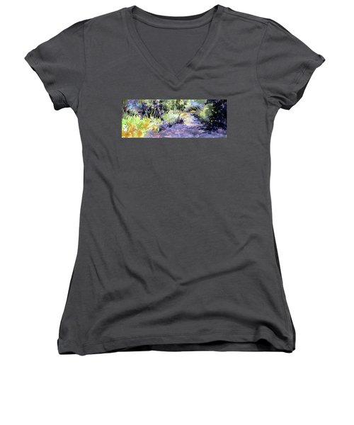 Trail Shadows Women's V-Neck T-Shirt