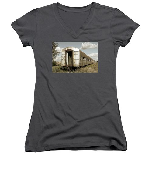Train To Nowhere Women's V-Neck (Athletic Fit)