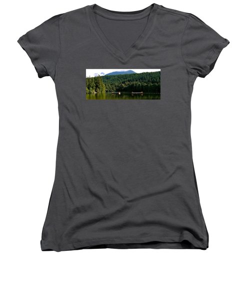 Tranquil Alice Lake Women's V-Neck (Athletic Fit)