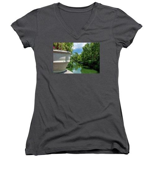 Tranquil Garden Women's V-Neck