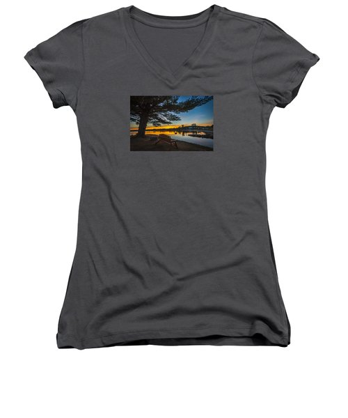 Tranquility At Sunset Women's V-Neck