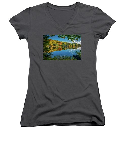 Tranquillity  Women's V-Neck T-Shirt