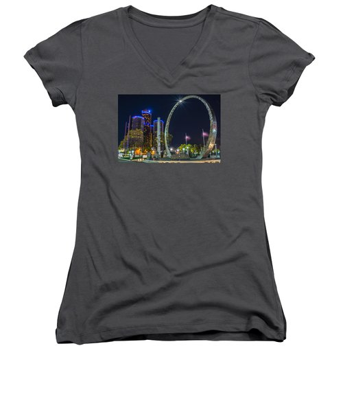 Transcend Detroit  Women's V-Neck T-Shirt