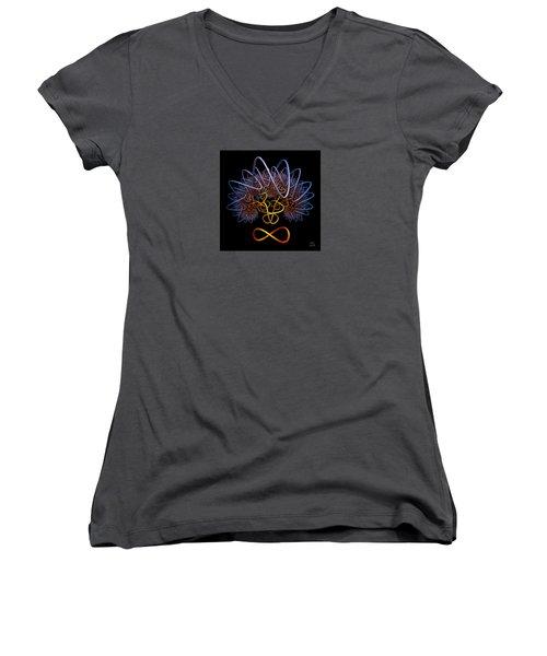 Transinfinity - A Fractal Artifact Women's V-Neck T-Shirt
