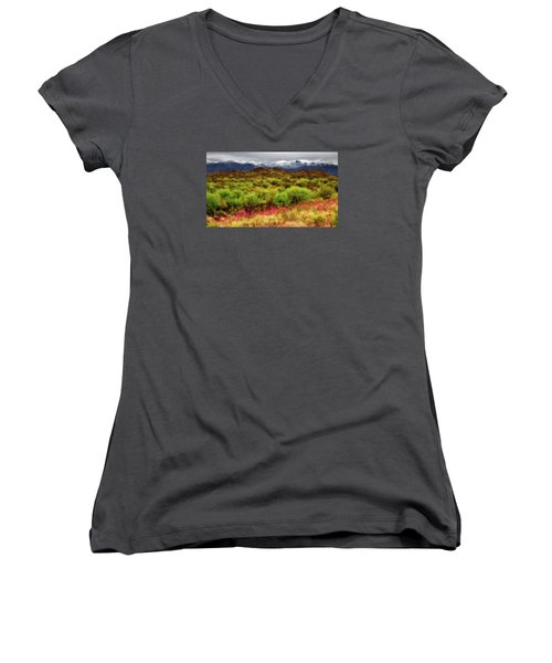 Transition Women's V-Neck T-Shirt (Junior Cut) by Rick Furmanek