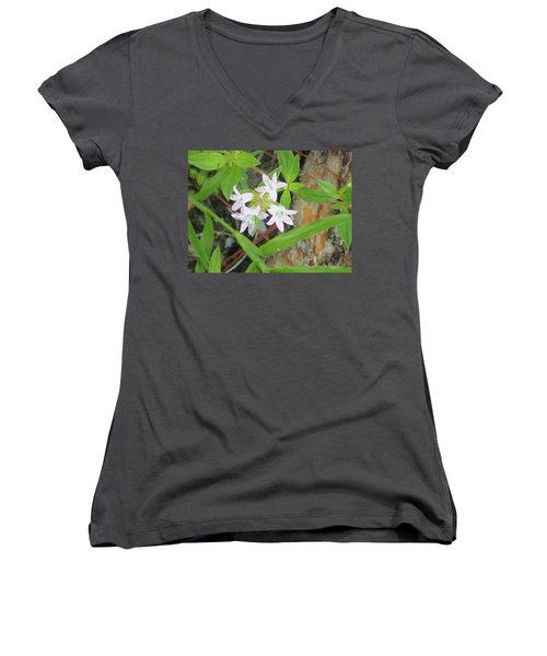 Transparent Flowers Women's V-Neck (Athletic Fit)