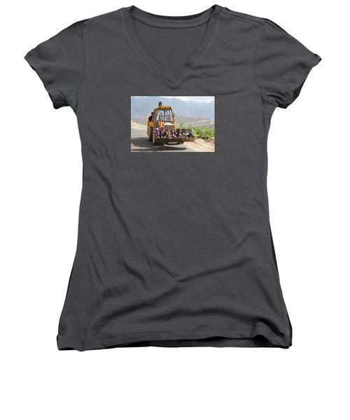 Transport In Ladakh, India Women's V-Neck T-Shirt