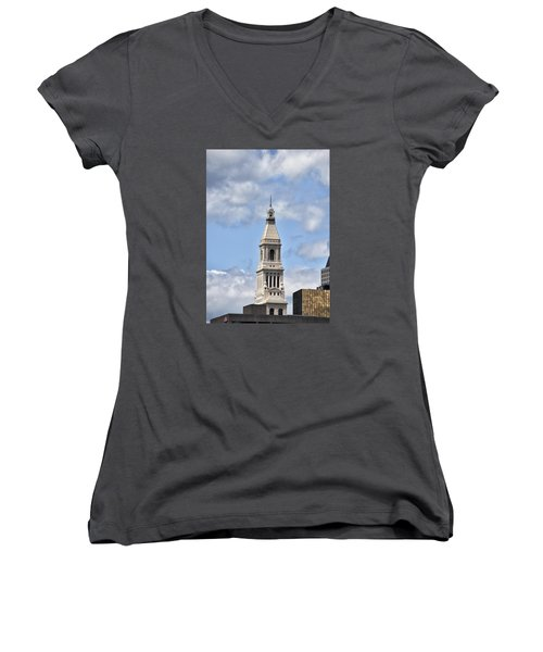 Travelers Tower In Hartford Connecticut Women's V-Neck (Athletic Fit)