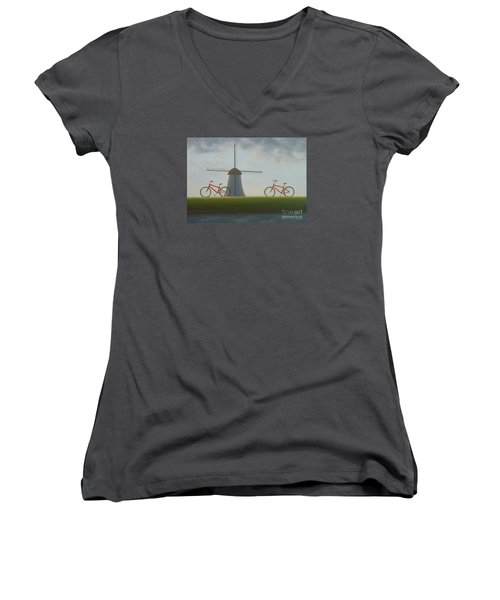 Traveling In Holland Women's V-Neck (Athletic Fit)