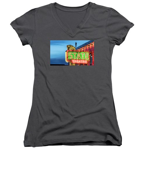 Traverse City State Theatre Women's V-Neck