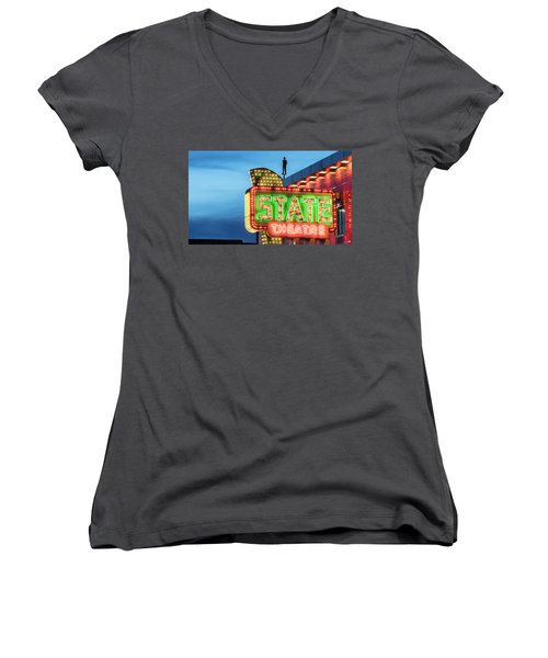 Traverse City State Theatre Women's V-Neck (Athletic Fit)