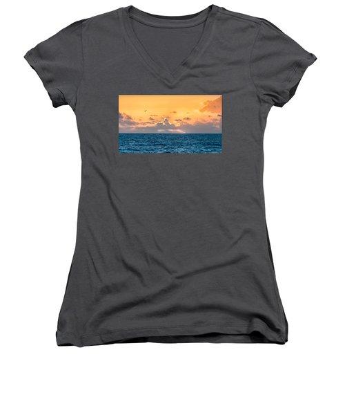 Treasure Coast Imaginations Women's V-Neck T-Shirt (Junior Cut) by Craig Szymanski