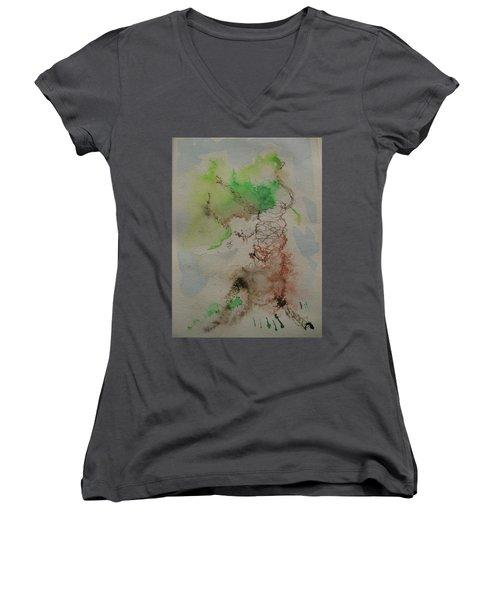 Tree Women's V-Neck T-Shirt (Junior Cut) by AJ Brown