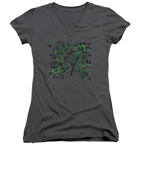 Tree Branches Women's V-Neck T-Shirt