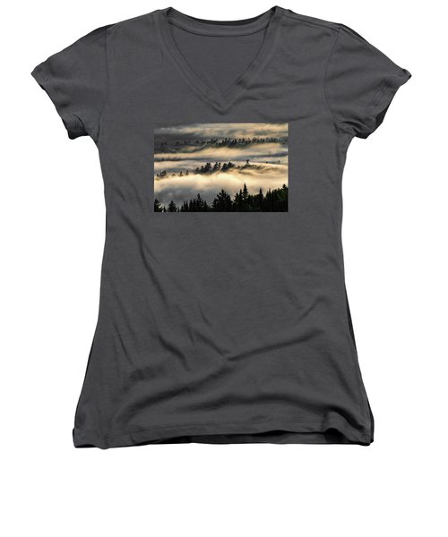 Trees In The Clouds Women's V-Neck