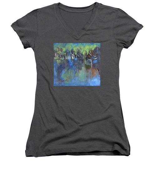 Tree Imagery Women's V-Neck T-Shirt