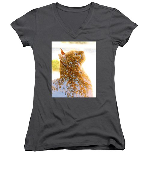 Tree In Cat Women's V-Neck (Athletic Fit)