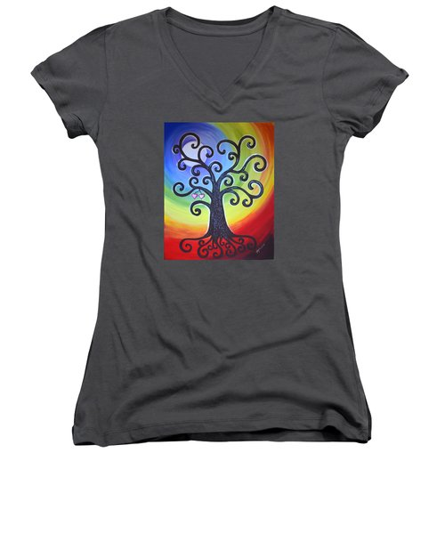 Tree Of Life Love And Togetherness Women's V-Neck (Athletic Fit)