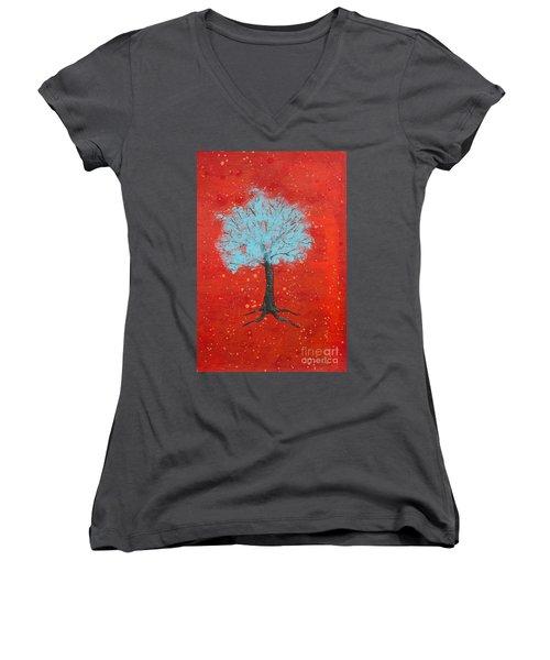 Nuclear Winter Women's V-Neck T-Shirt (Junior Cut) by Stefanie Forck