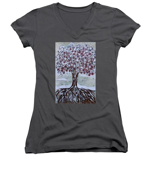Tree Of Life - Winter Women's V-Neck (Athletic Fit)