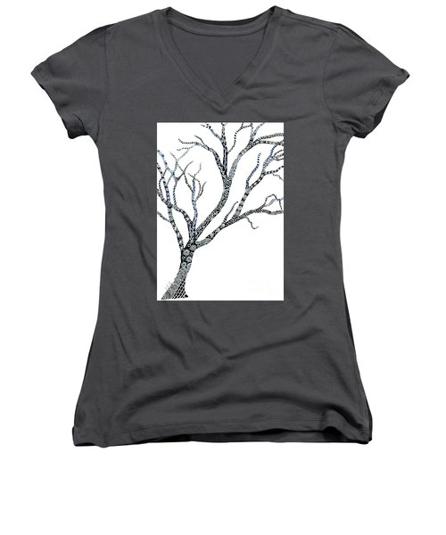Tree Of Strength Women's V-Neck (Athletic Fit)