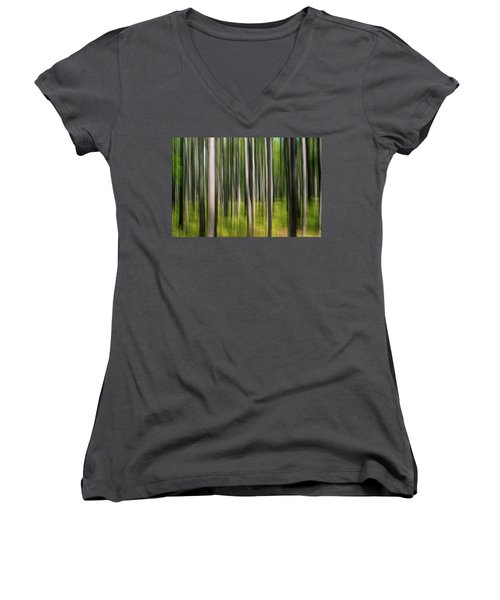 Tree Painting Women's V-Neck