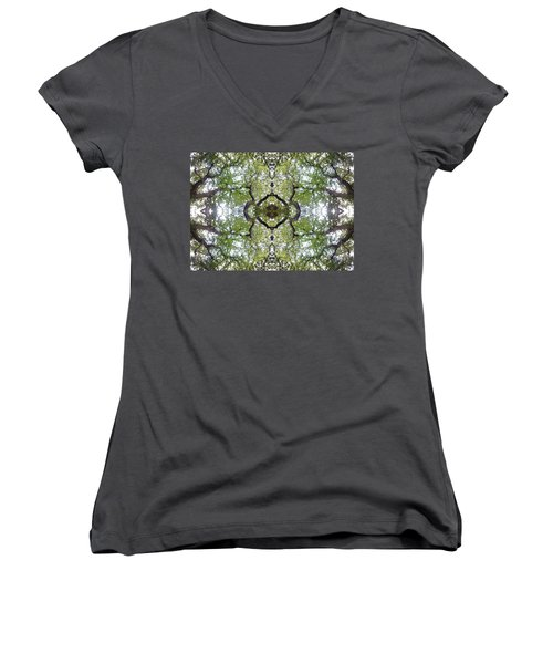 Tree Photo Fractal Women's V-Neck