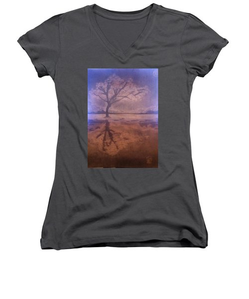 Tree Reflection  Women's V-Neck (Athletic Fit)