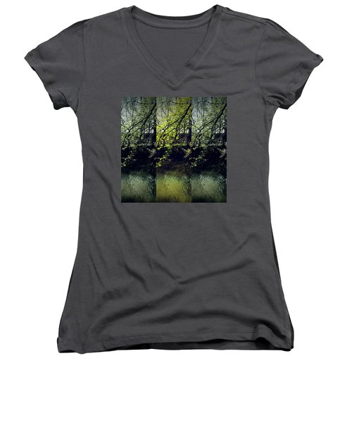 Tree Triptych Women's V-Neck T-Shirt