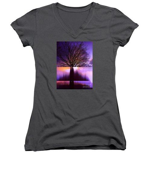 Tree Triptych Women's V-Neck