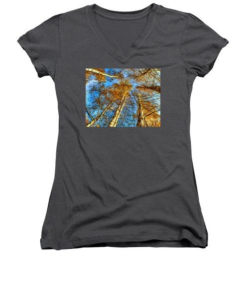 Trees Grow To The Sky Paint Women's V-Neck