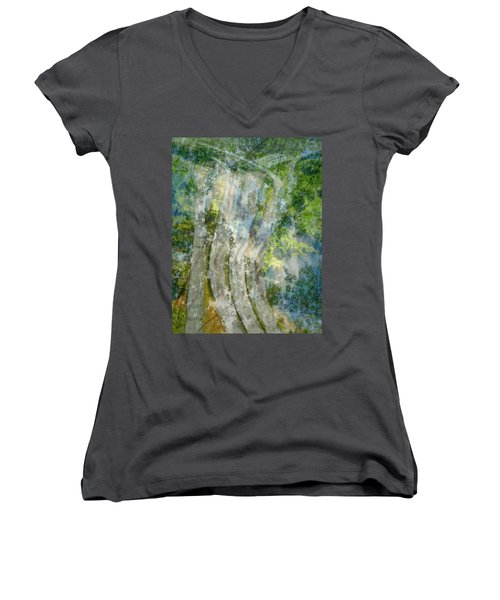 Trees Over Highway Women's V-Neck