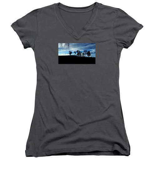 Trees Women's V-Neck T-Shirt (Junior Cut) by RKAB Works