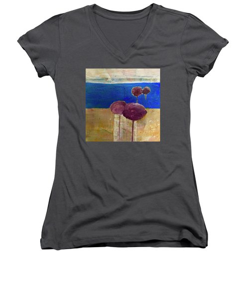 Treescape Women's V-Neck T-Shirt