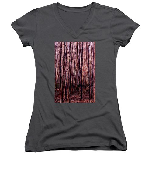 Treez Red Women's V-Neck