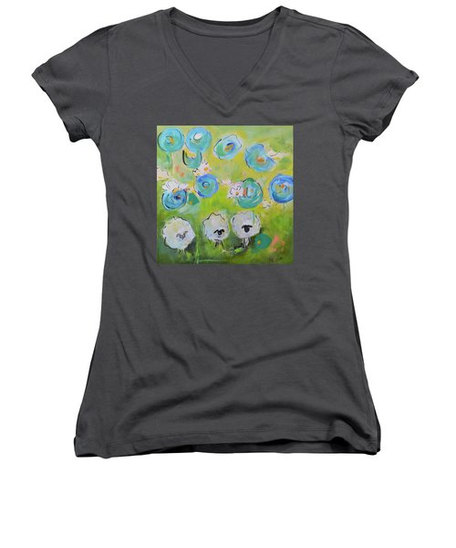 Tres Sheep Women's V-Neck (Athletic Fit)