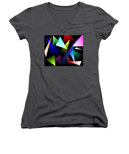 Triangles Women's V-Neck (Athletic Fit)
