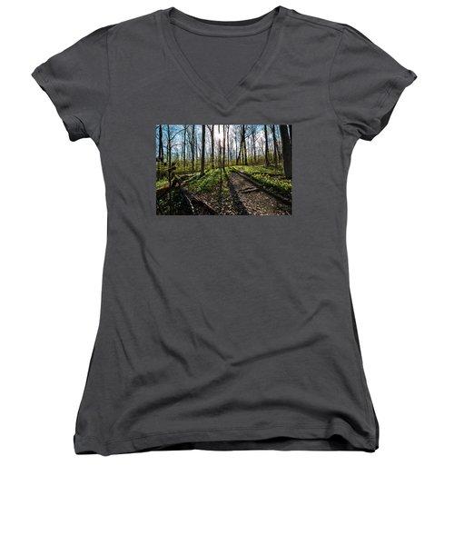 Trillium Trail Women's V-Neck T-Shirt