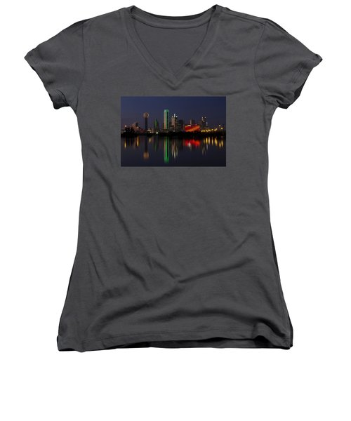 Trinity River Dallas Women's V-Neck T-Shirt