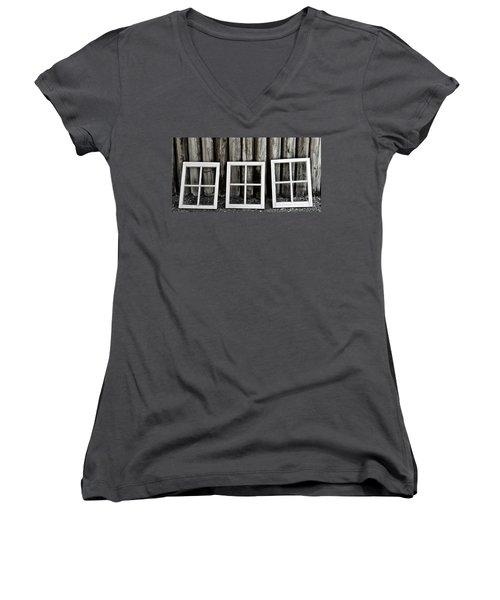 Women's V-Neck T-Shirt (Junior Cut) featuring the photograph Trio by Brad Allen Fine Art