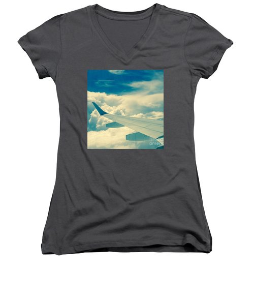 Trip To Women's V-Neck T-Shirt (Junior Cut) by France Laliberte
