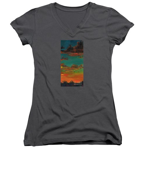 Triptych 3 Women's V-Neck (Athletic Fit)