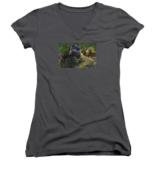 Trolley Bus Into The Jungle Women's V-Neck