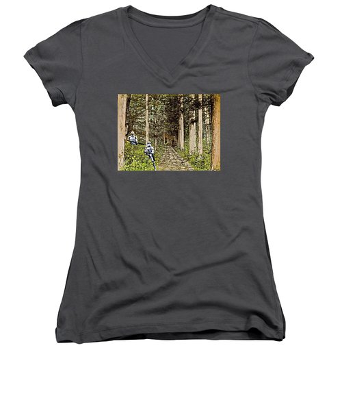 Troopers On The Planet Women's V-Neck