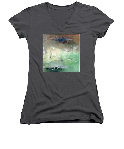 Tropic Waters Women's V-Neck T-Shirt (Junior Cut) by Michal Mitak Mahgerefteh