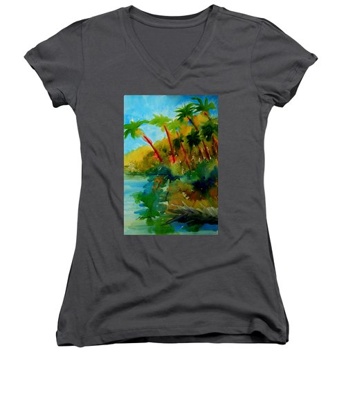 Tropical Canal Women's V-Neck