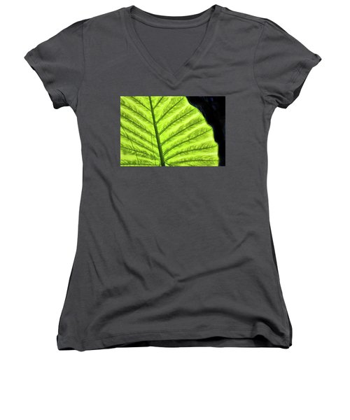 Tropical Leaf Women's V-Neck