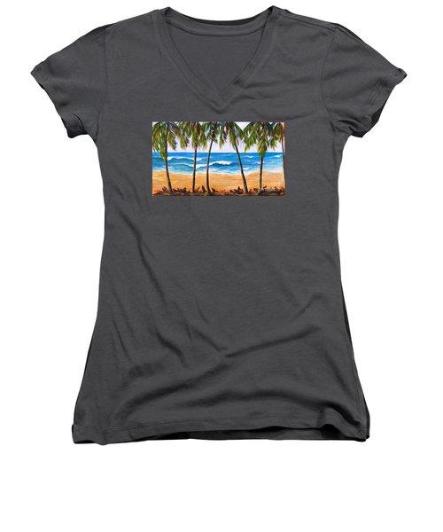 Tropical Palms 2 Women's V-Neck