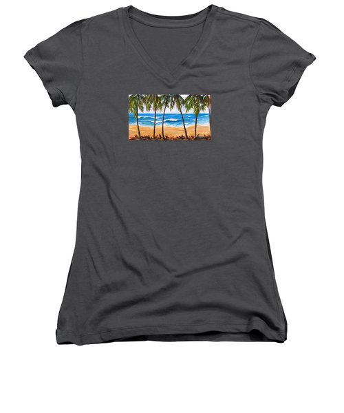 Tropical Palms 2 Women's V-Neck
